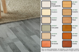 Suelo de madera de colores gris verde blanco