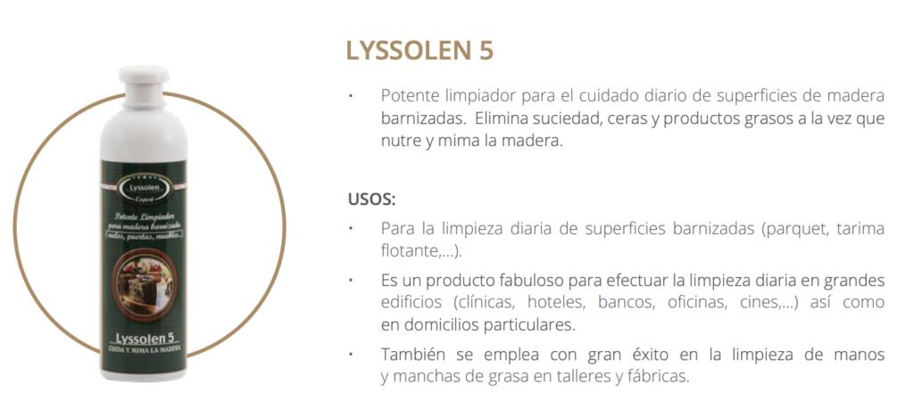 Limpiador suelo madera lyssolen 5