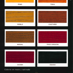 lasur para madera colores