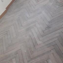 suelo de madera antes