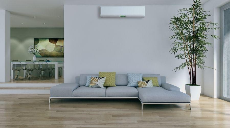 aire acondicionado y suelos de madera